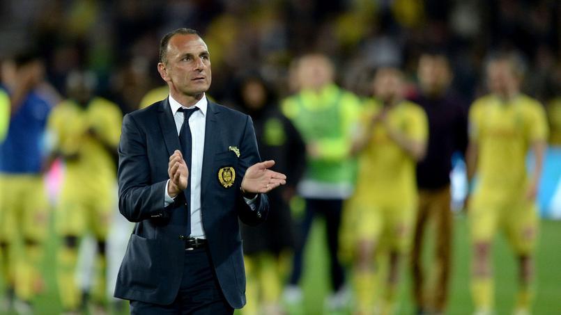 Michel Der Zakarian n'a pas pu s'exprimer devant les supporters nantais, pour son dernier match à domicile.