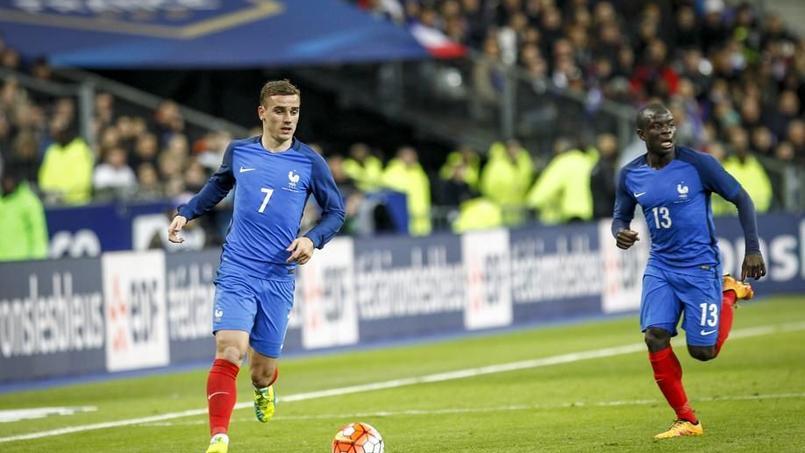 Antoine Griezmann, durant un match amical des Bleus
