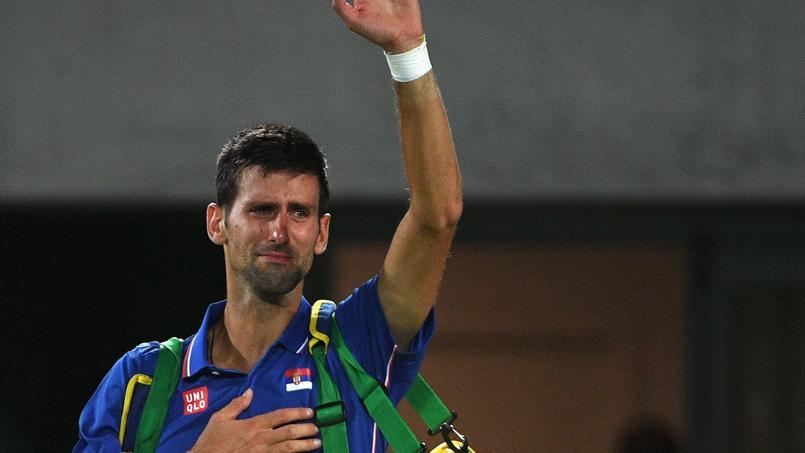 Les larmes de Novak Djokovic après sa défaite