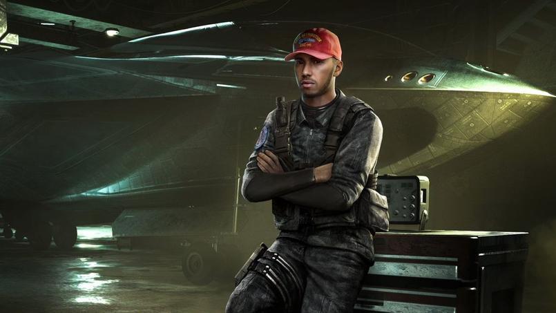 Le pilote anglais de Mercedes Lewis Hamilton sera présent dans le prochain opus de Call of Duty
