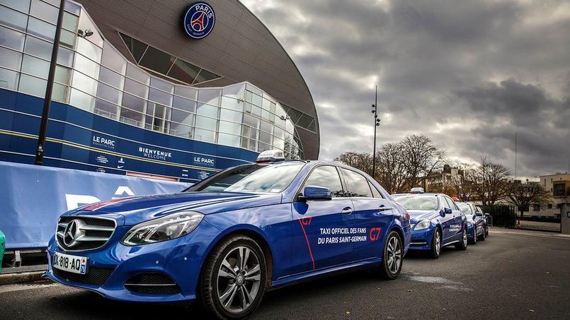 Des taxis dans la capitale aux couleurs du Paris SG