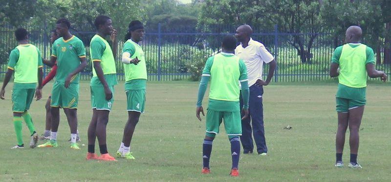 L'équipe du Zimbabwe à l'entraînement avant la CAN 2017.