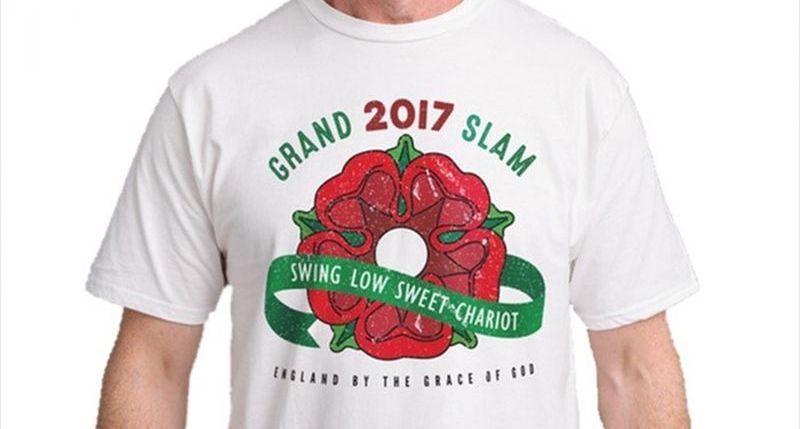 Des t-shirts célébrant le Grand Chelem de l Angleterre en vente avant le  même le Tournoi bb38fa41d1a1