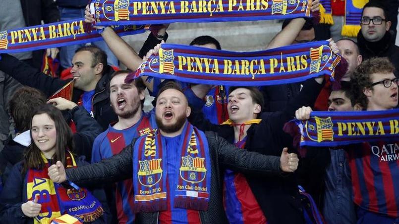 La cinglante défaite au Parc des Princes n'a pas découragé les supporteurs catalans qui croient à la qualification.