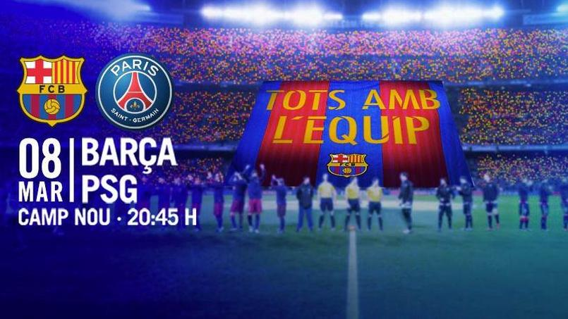 Le tifo qui sera déployé mercredi soir au Camp Nou