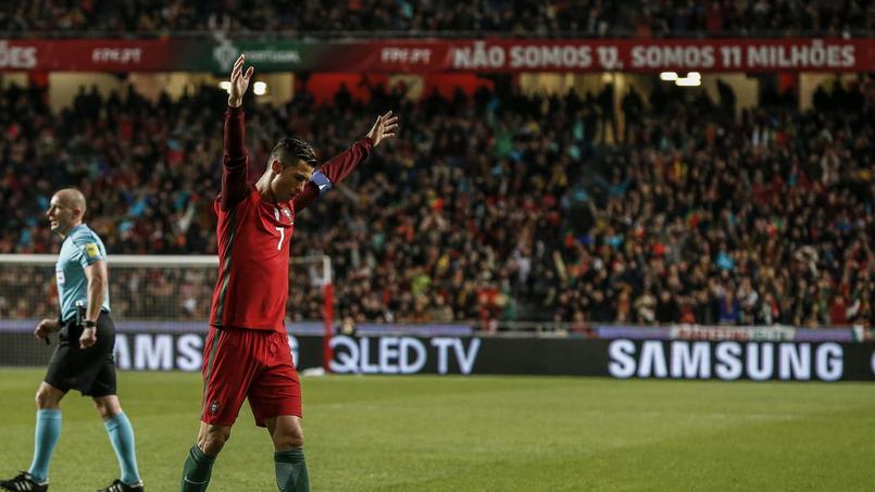 Cristiano Ronaldo, après son but contre la Hongrie en éliminatoire pour la Coupe du monde 2018