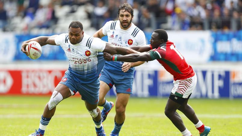 Virimi Vakatawa lors du tournoi de Paris de rugby à VII
