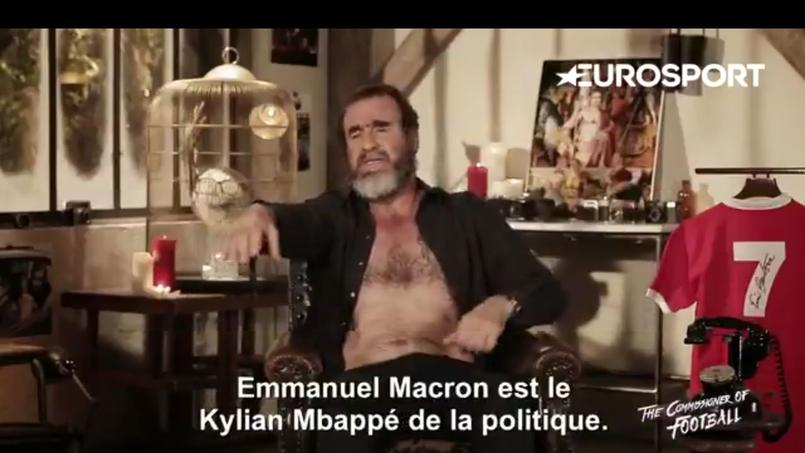 Pour Eric Cantona, «Macron est le Mbappé de la politique»