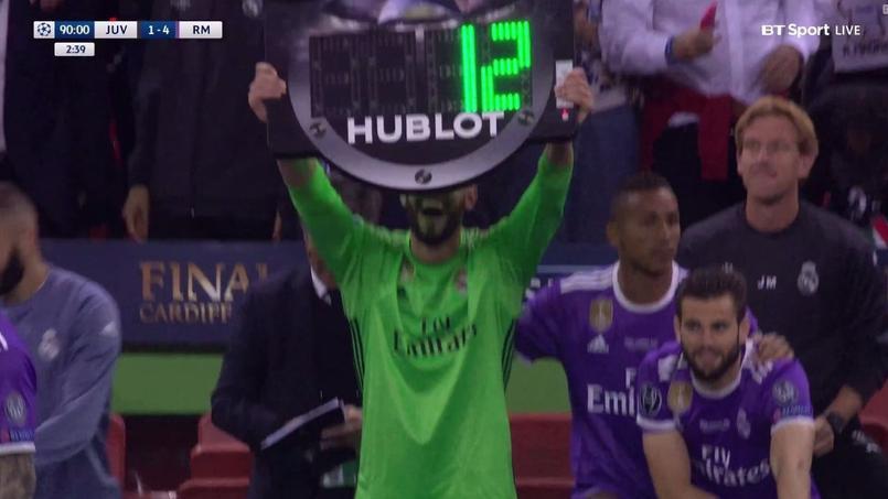 Kiko Casilla célébrant la victoire madrilène en finale la Ligue des champions