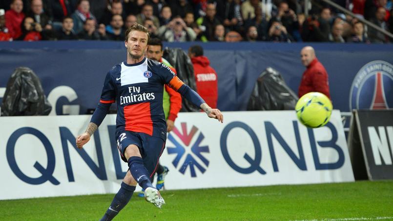 David Beckham a terminé sa carrière professionnelle au PSG, en 2013.