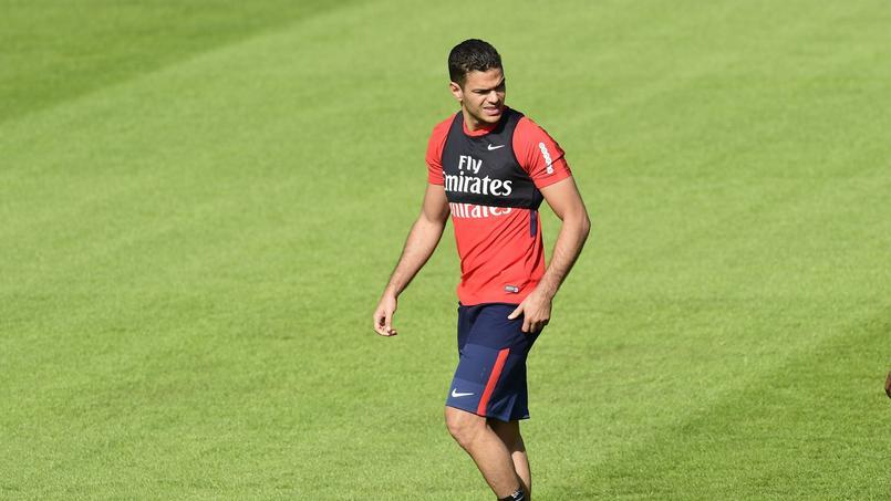 Hatem Ben Arfa sous le maillot du PSG, à l'entraînement