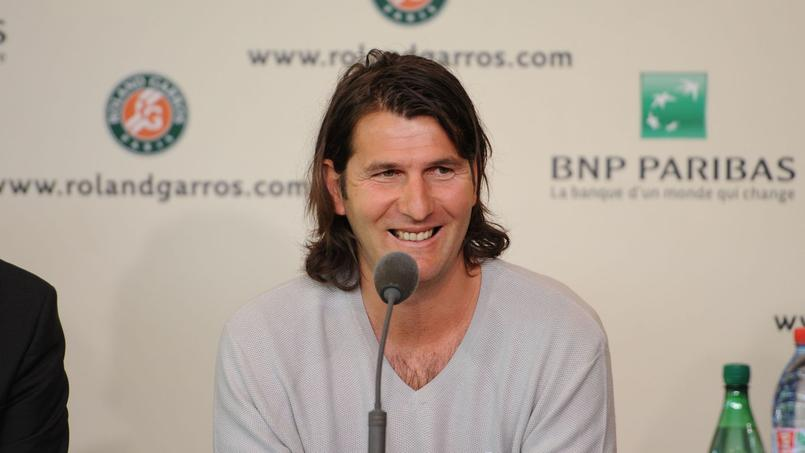 Jérôme Golmard en 2014 à l'occasion de la conférence de presse où il a évoqué sa maladie.
