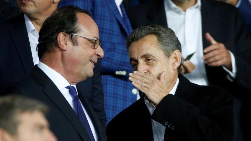 Sarkozy et Hollande dans les tribunes du Parc
