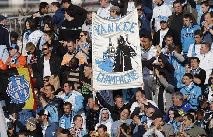 Des supporters des Yankee en 2010 contre Boulogne-sur-mer