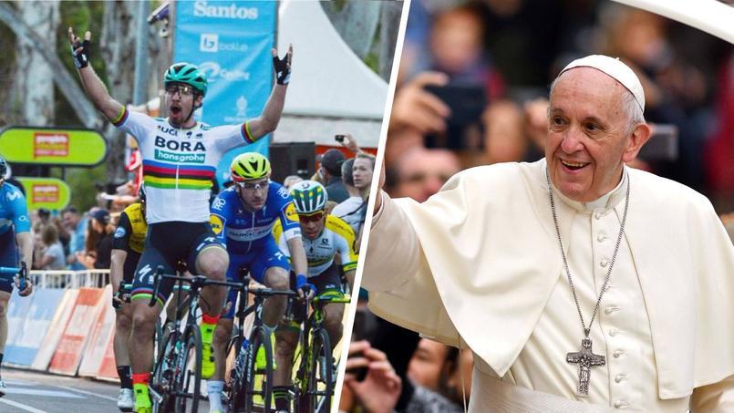 La star du vélo Peter Sagan va demander au pape de baptiser son fils