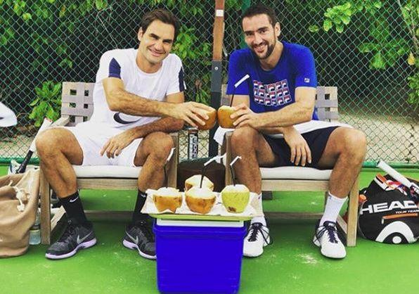 Les vacances de Federer et Cilic aux Maldives