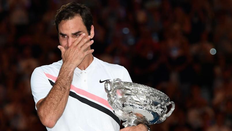 Les larmes de Roger Federer après son sacre