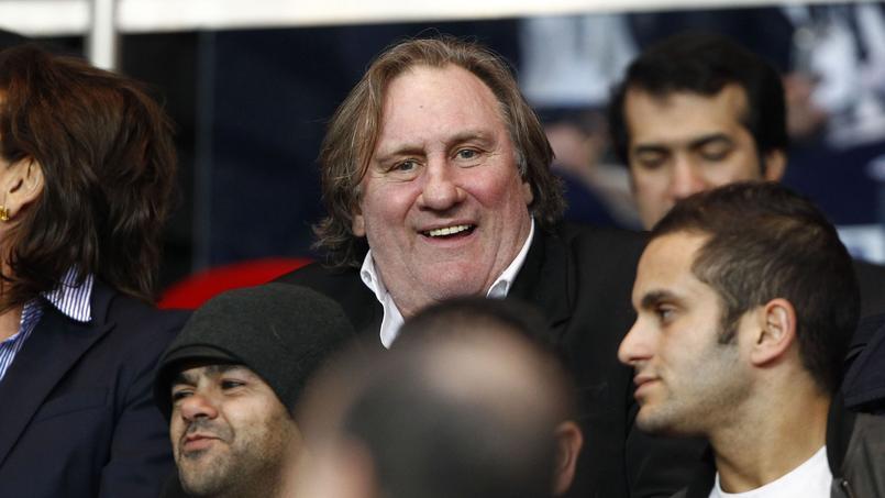 Depardieu au Parc des Princes lors de PSG-Chelsea 2014.