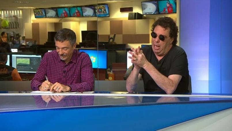 Walter Casagrande (à droite à l'image) sur SporTV.