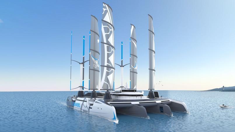 Image De Bateau yvan bourgnon présente son bateau géant nettoyeur des océans