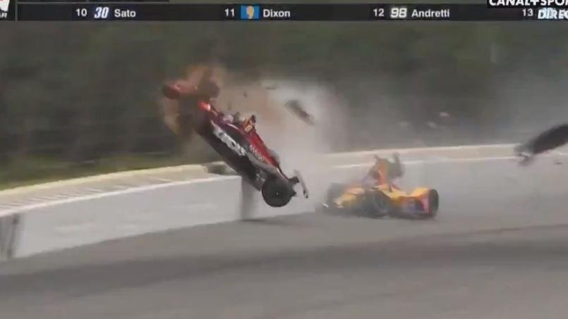Le terrible accident d'un pilote d'IndyCar