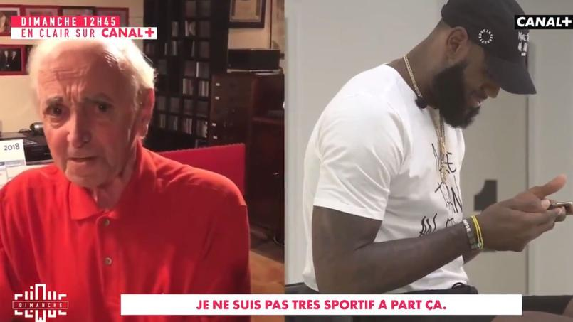 Le message d'admiration de Charles Aznavour à LeBron James