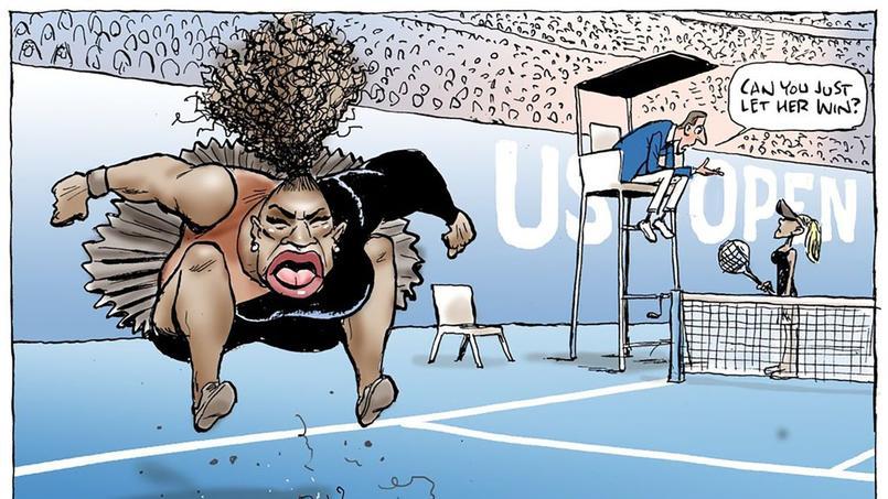 Une caricature de Serena Williams fait polémique