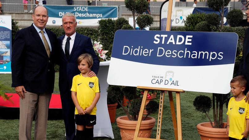 Didier Deschamps était présent à Cap-d'Ail, pour l'inauguration d'un deuxième stade à son nom après celui situé à Bayonne.