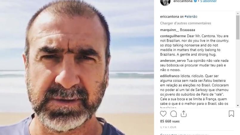 Éric Cantona s'en est pris aux partisans de Bolsonaro ainsi qu'à l'Arabie Saoudite.