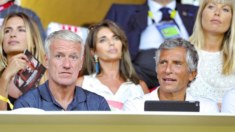 Didier Deschamps et Nagui ont assisté ensemble au match de Ligue 1 entre l'AS Monaco et Lille en août dernier.