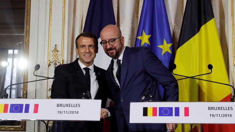 En Belgique, Macron s'offre une bouffée d'oxygène