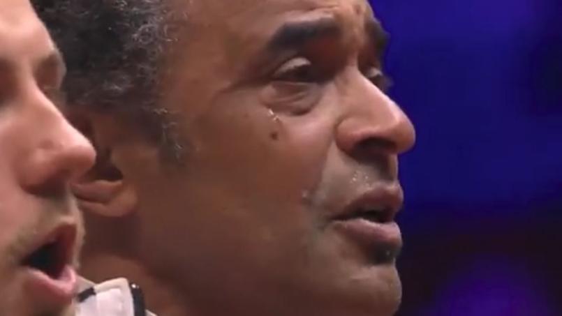 Coupe Davis : les larmes de Yannick Noah pendant la Marseillaise
