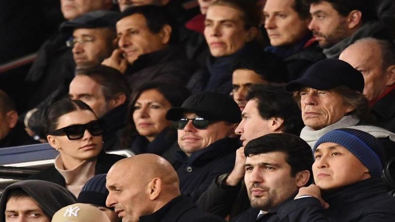 Leonardo Di Caprio et Mick Jagger au Parc des Princes pour PSG-Liverpool