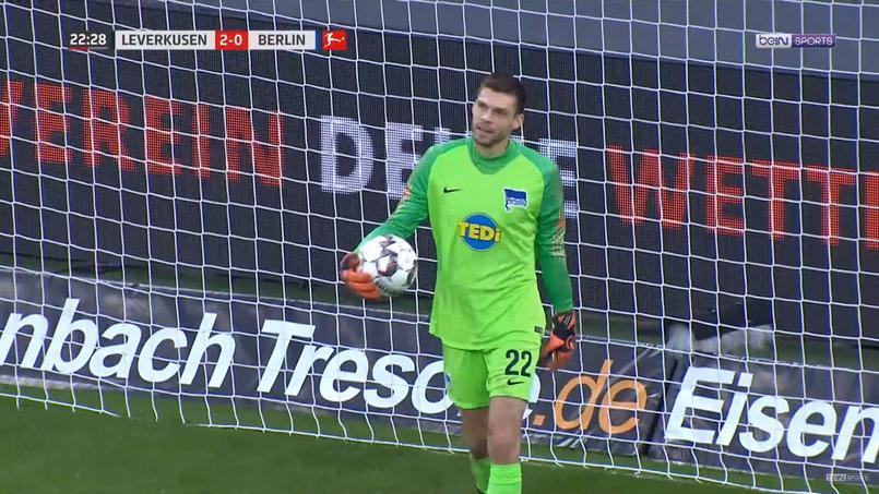 Rune Jarstein vient de concéder un but improbable face au Bayer Leverkusen.