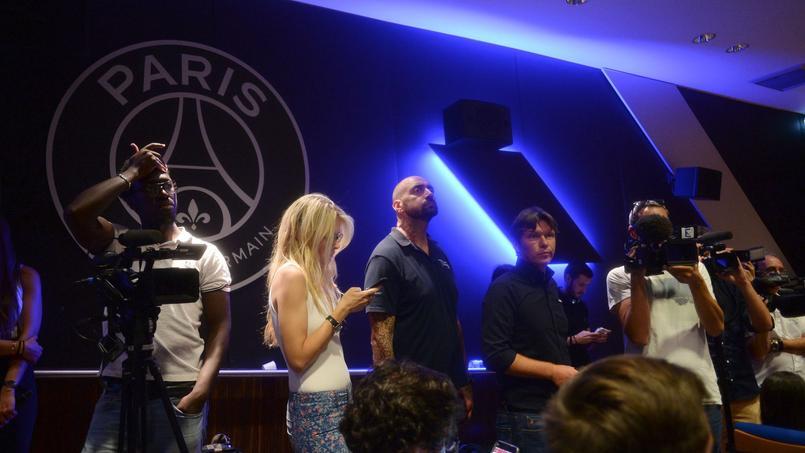 Conférence de presse pour la présentation de Gianluigi Buffon lors de son arrivée au PSG, en juillet dernier.