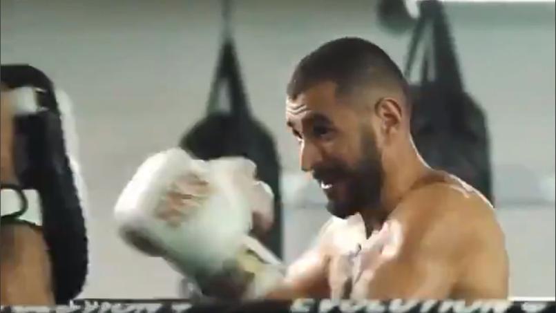 Karim Benzema s'est mis à la boxe en compagnie de Booba.
