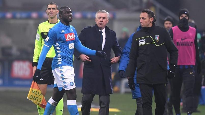 Kalidou Koulibaly mercredi soir pendant la rencontre entre l'Inter Milan et Naples.