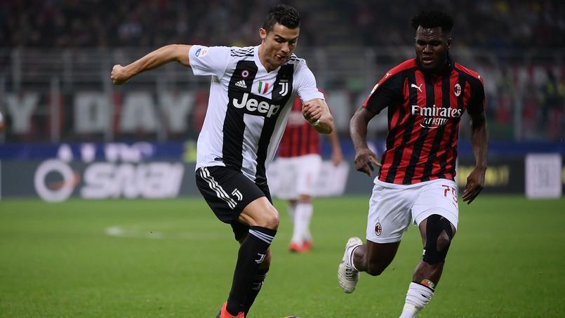 Cristiano Ronaldo (Juventus de Turin) et Frank Kessie (Milan AC), le 11 novembre 2018.
