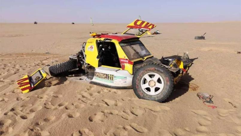 L'accident impressionnant entre deux buggies sur l'Africa Race