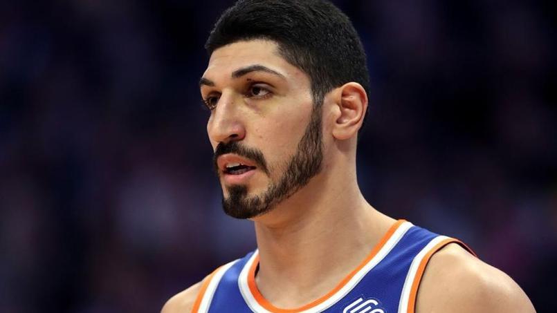 Enes Kanter le 1er janvier dernier pendant la rencontre entre les New York Knicks et les Denver Nuggets