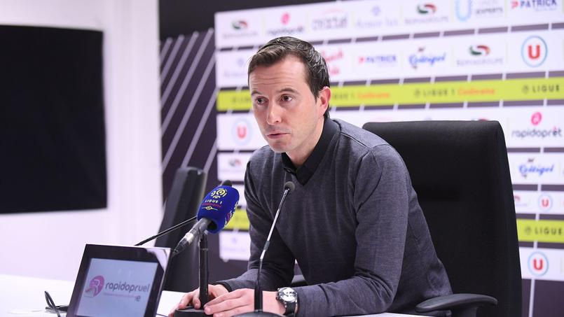 Julien Stéphan en conférence de presse le 16 janvier.
