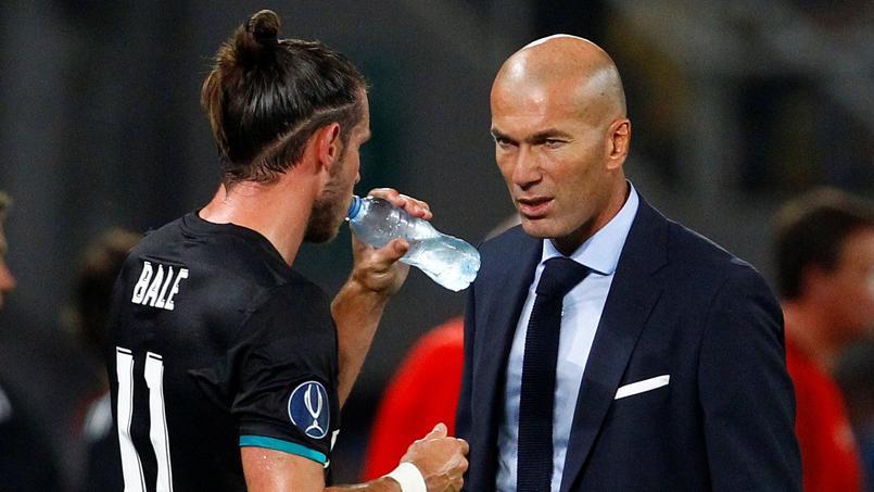 Gareth Bale et Zinédine Zidane sous les couleurs du Real Madrid.