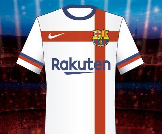 Le projet de maillot refusé par le FC Barcelone pour la saison 2020-2021 selon El Mundo Deportivo.