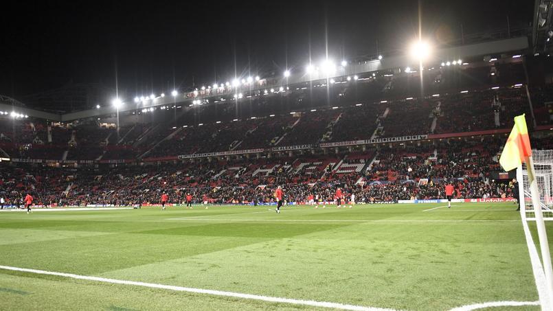 Le stade d'Old Trafford avant le choc face au PSG