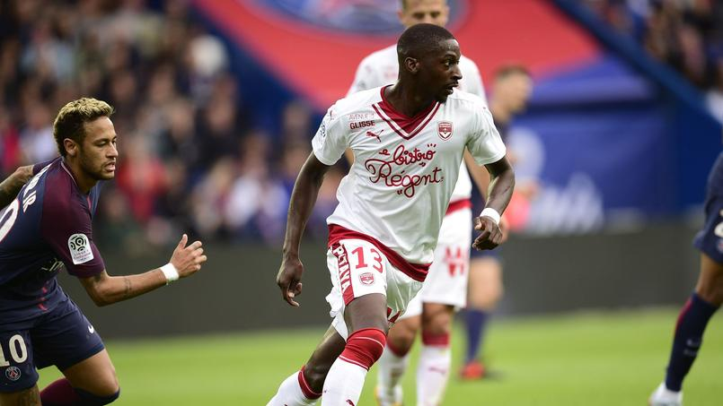 Younousse Sankharé avec les Girondins de Bordeaux contre le Paris SG en septembre 2018.