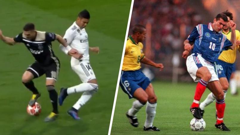 AA gauche, Dusan Tadic effectuant une roulette, geste maintes fois répété par son idole Zinédine Zidane