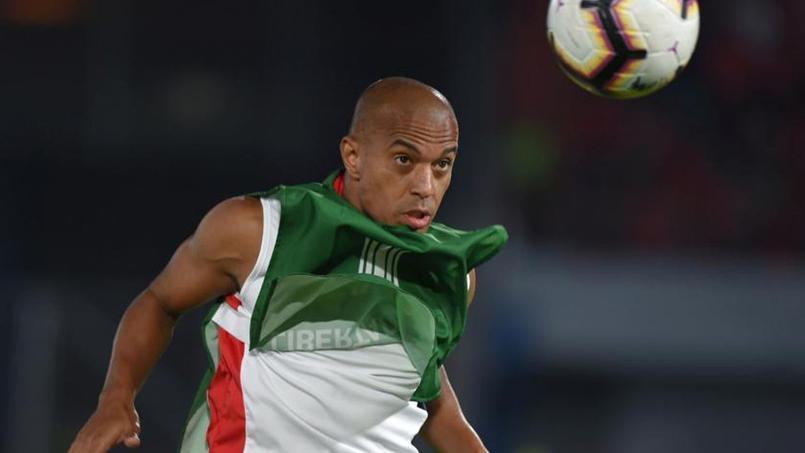 Le Brésilien Serginho, attaquant du club bolivien du Club Deportivo Jorge Wilstermann.