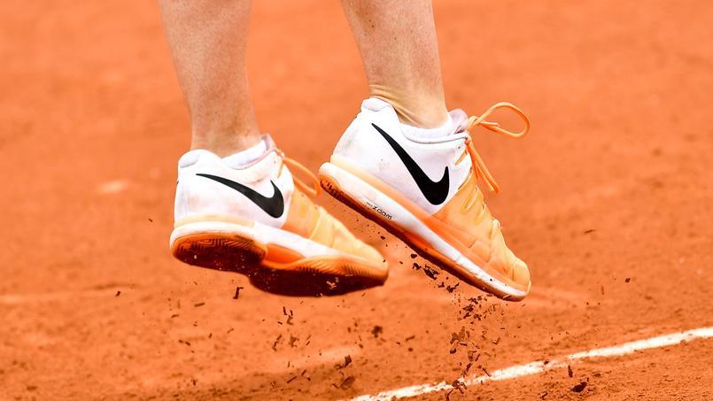 Les chaussures d'Agnieszka Radwanska lors de Roland-Garros 2017