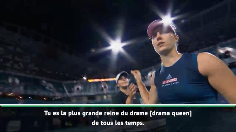 «Tu es la plus grande diva de l'histoire»: la poignée de main glaciale entre Kerber et Andreescu
