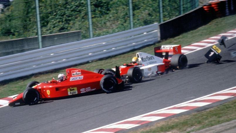 L'accrochage entre Ayrton Senna et Alain Prost à Suzuka en 1990
